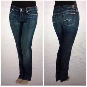 SEVEN 7 FOR ALL MANKIND Sz 31 Straight Leg Jeans
